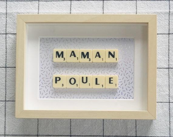 Scrabble Frame Maman Poule