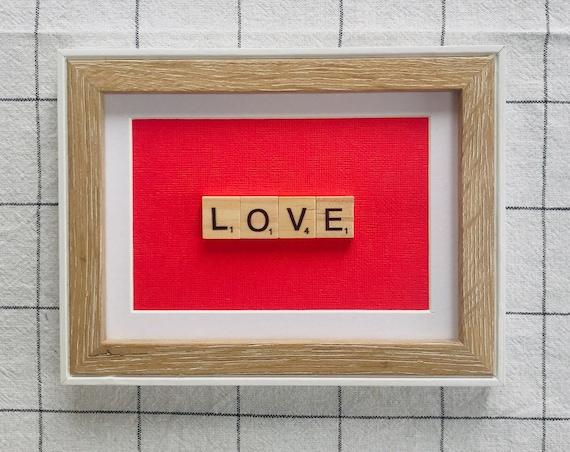 Scrabble Frame Love