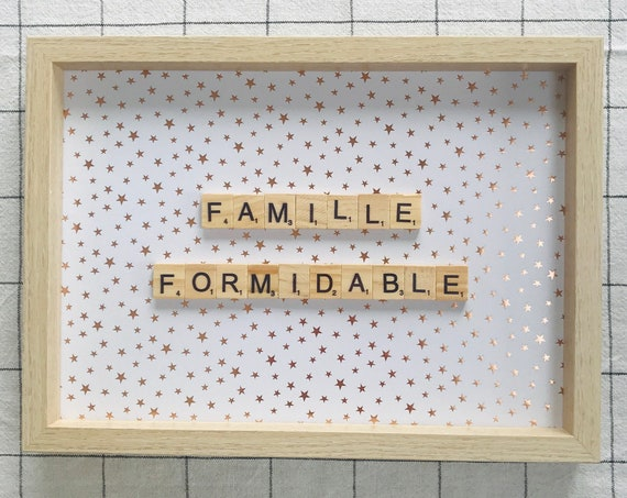 Scrabble Frame Famille Formidable