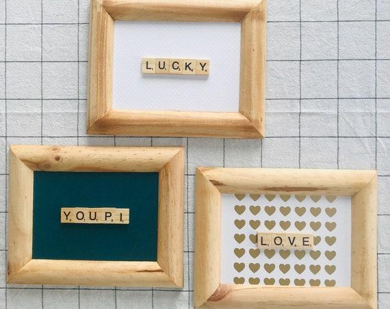 Scrabble Frame Mot Au Choix
