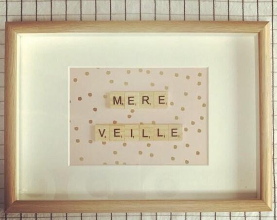 Scrabble Frame Mère Veille