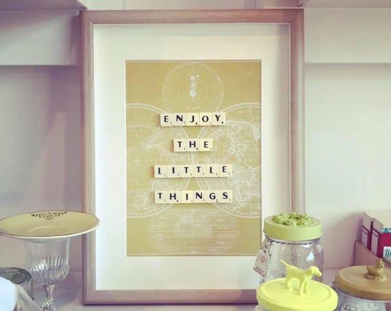 Scrabble Frame Enjoy The Little Things