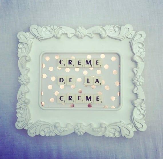 Scrabble Frame Crème De La Crème