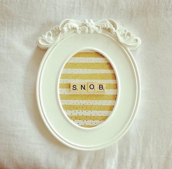 Scrabble Frame Snob