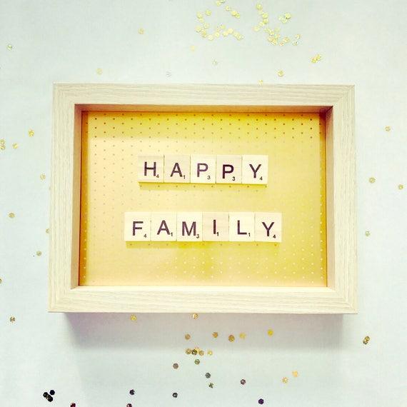 Scrabble Frame Happy Family