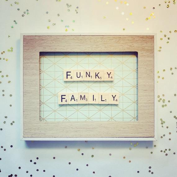 Scrabble Frame Funky Family