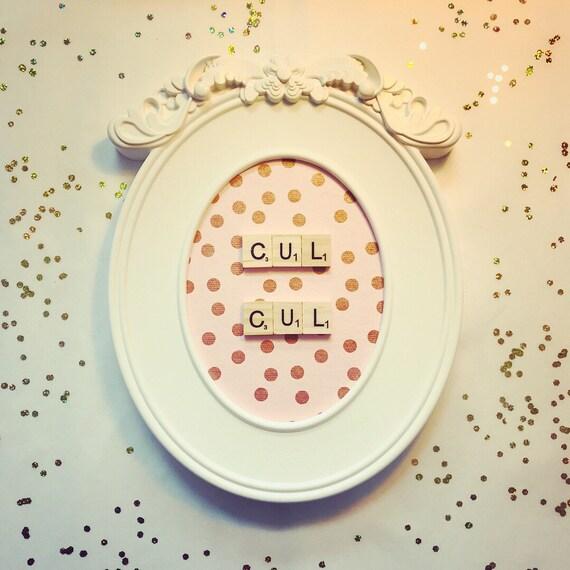 Scrabble Frame Cul-Cul