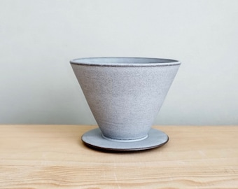 Pour Over - Zen Grey, coffee pour over, coffee dripper by MUD TO LIFE