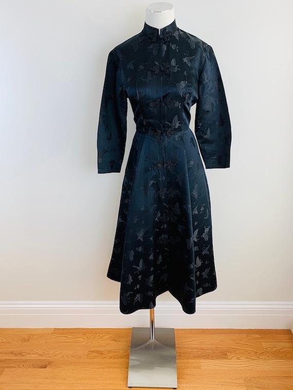 Vintage 50s DYNASTY Black Chinese Silk Princess S… - image 6