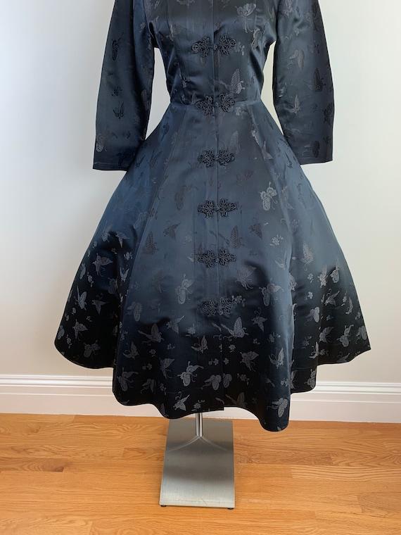 Vintage 50s DYNASTY Black Chinese Silk Princess S… - image 3