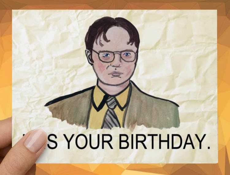 Dwight Schrute The Office Funny Birthday Card Etsy