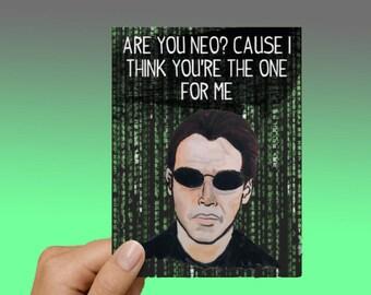 Neo The Matrix Funny Love Card