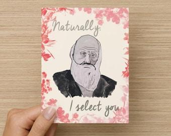 Charles Darwin Love Card