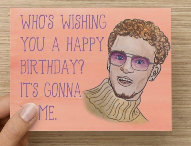 Justin Timberlake Birthday Day Card Etsy