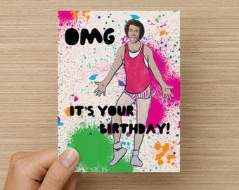 Richard Simmons Happy Birthday Card