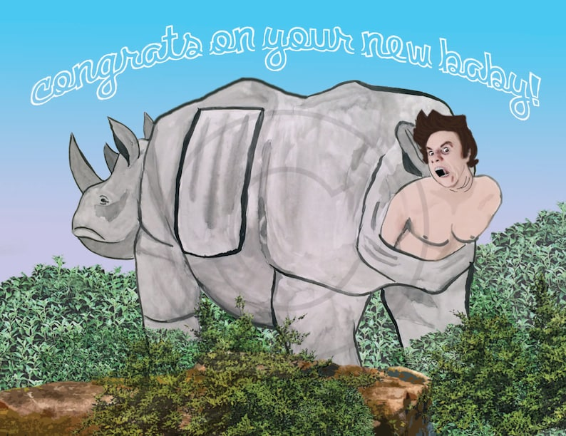 Ace Ventura Ridiculous Baby Congratulations Card