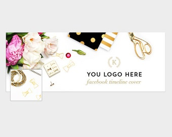 Facebook timeline cover | Styled stock photography | Photoshop template | Instant download