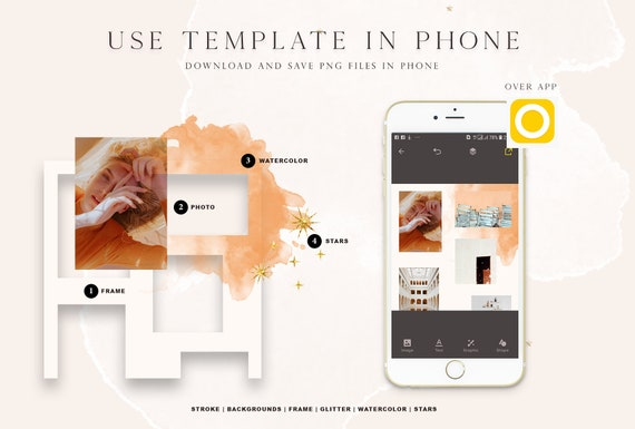 56 Instagram templates Post template Digital download Beauty pack  Watercolor style Social media promote