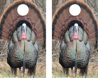 Cornhole Wrap Decal Wild Turkey Laminated Includes 2