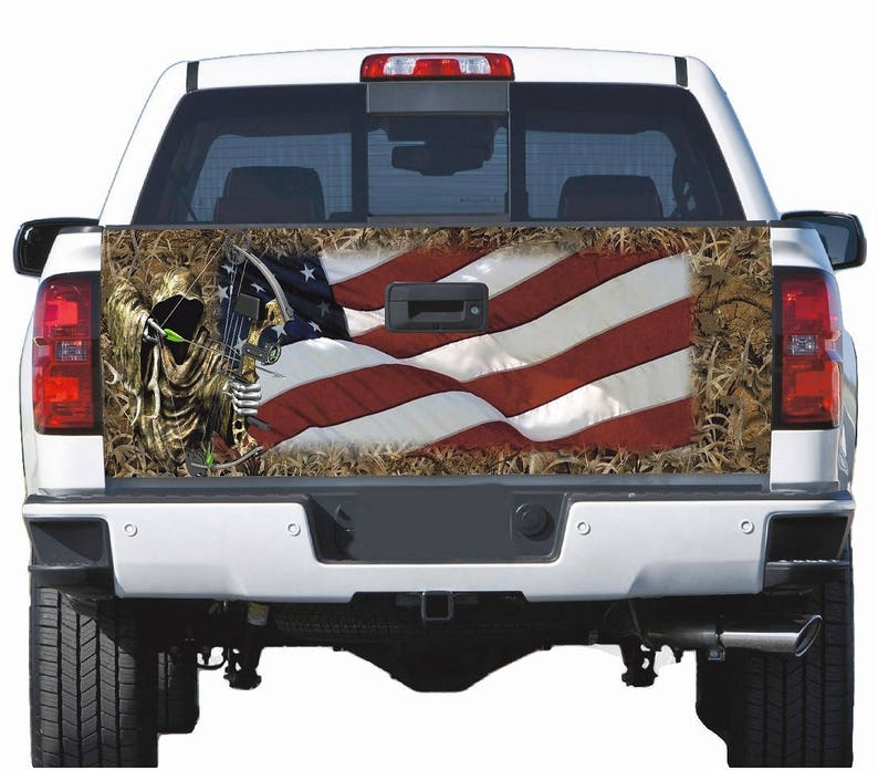 Truck Tailgate Wrap Decal  Reaper Ghost  Camo 3m Vinyl 7Yr