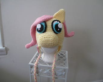 Crocheted Inspired My Little Pony--Fluttershy---Costume----Dress Up--Fall/Winter Hat