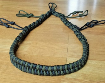 Custom Paracord Call Lanyard - Black and Olive Drab - Duck/Goose