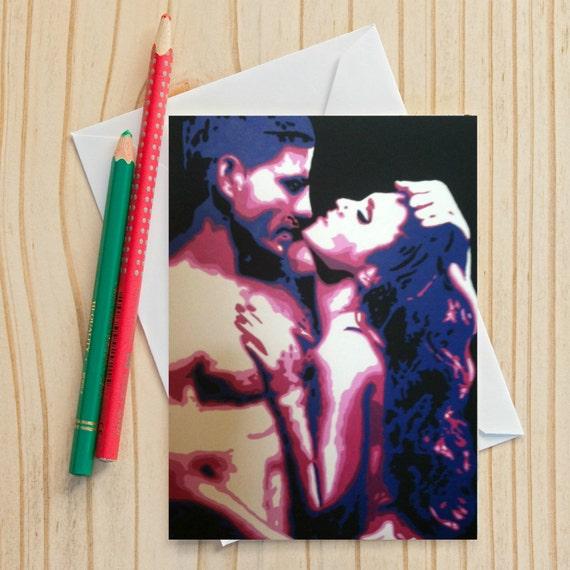 Card erotic greeting sensual