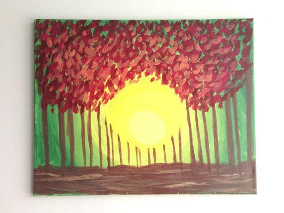 Landschaft Natur Malerei Abstrakte Malerei Natur Kunst | Etsy