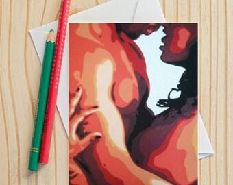 Fine art note card african american art 4 x 6 fine art note card african american art 5 x 7 blank inside m4hsunfo