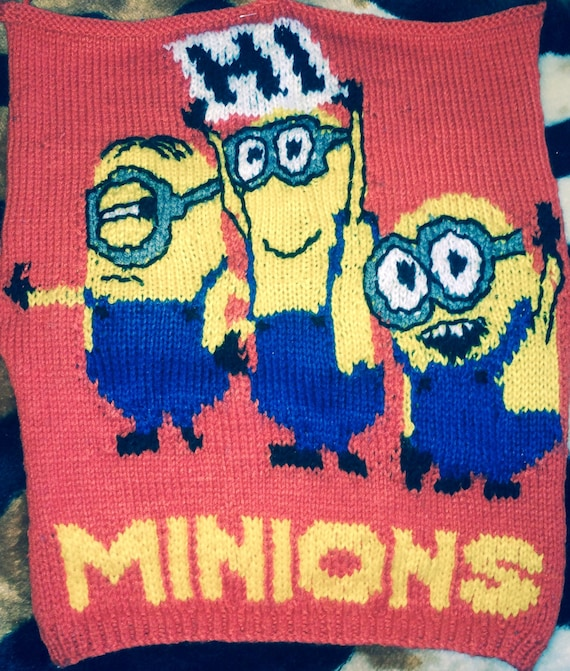 Minions Knitted Jumper Pattern Etsy