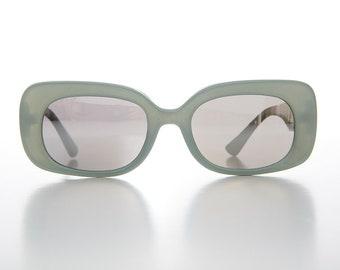 9cdab9e409124 Women s Large Mod Bold Rectangular Vintage 80s Sunglasses - Tutti.  SunglassMuseum