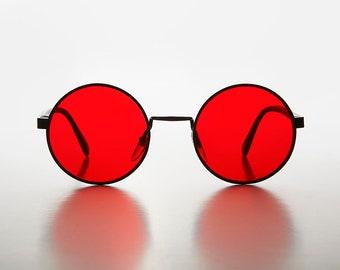 1820d5a11da1 John Lennon Color Tinted Lens Vintage Sunglass / Metallic Matching Rims -  Aura
