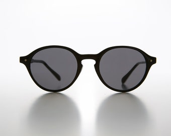 ca29dadd858 Small Round P3 Retro Sunglass Thin Horn Rim Atticus Finch - Scout