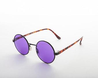 76864fd61c0 John Lennon Round Color Lens Vintage Sunglass   Hippie   Blue Lens  Purple  Lens   Retro   60s -Dylan