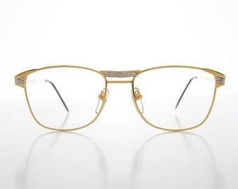 a54730e4036b 90s Hip Hop Gold   Silver Vintage Eyeglasses - Gerald