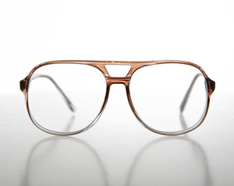 d1b2185fb109 Clear Lens Translucent Aviator Plastic Optical Quality Glasses- Irving