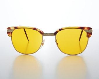 dd01ace8a2e Half Frame Tinted Lens Vintage Sunglass with True Blue Blocker Lens -True