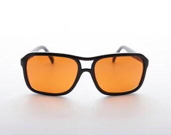 056ad4be798 Amber Orange Colored Lens Square Vintage Aviator   Blue Light Blocker   Driving  Sunglasses - Cardinal