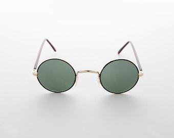 76b93547d8 Small Round Hippie John Lennon Vintage Sunglass with Glass Lens - Gypsy