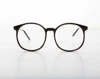 efbe22f81e0 Oversized 80s Secretary Round Preppy Schoolboy Eyeglasses - Large Smarty