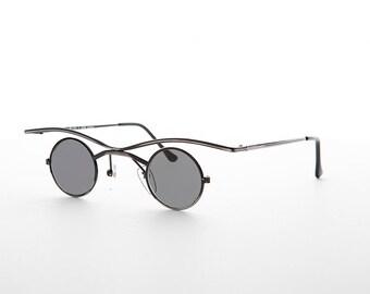 b8e9327c39 Small Round Goth Victorian Steampunk Sunglasses - Emmett