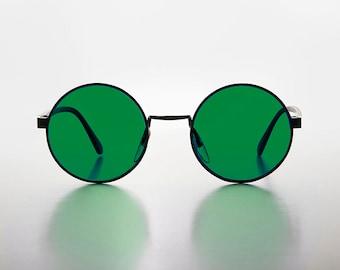 Gadget Lennon Stile Occhiali Rotondo Tinto Blu Montatura Hippy Anni 70 Anni 80