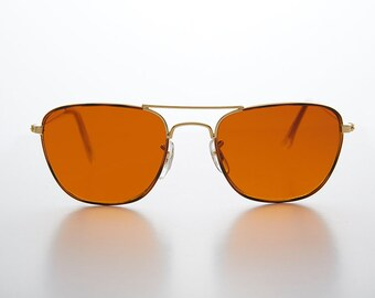 d24b57f62f Amber Colored Lens Aviator   Blue Blockers  Small Square Frame -Areo