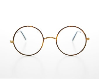 6165f5e12a38 Small Gold Spectacle Fake Eye Glass with Clear Lens and Saddle Bridge -  Camden