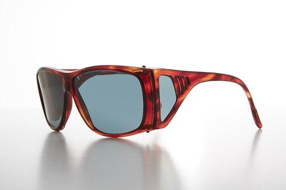 b2b5e1be900 Glass Lens Polarized Sunglass Vintage 80s with Side Shields