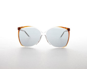 80s Women's Oversized Butterfly Vintage Sunglass with Transition Glass Lens -Raquel