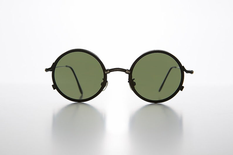 08ce7f6e3dd9 Industrial Round Steampunk Metal Combo Vintage Sunglass   Goth
