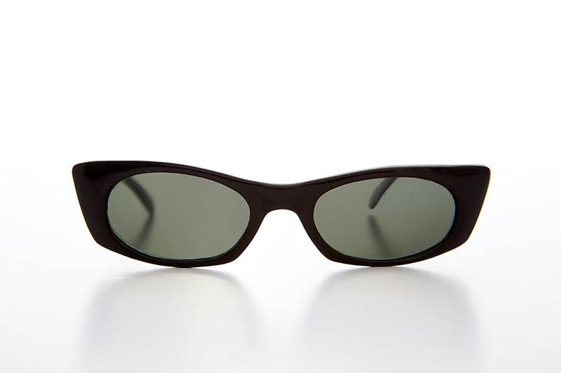 2657a1e621 Thin Pointed Tip Punk Vintage Cat Eye Sunglasses Casie