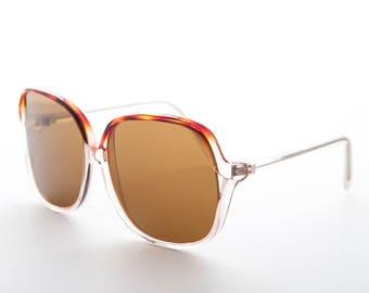 Polarized Square Women's Sunglass/ Retro / Boho Chic/70s Style/ Oversized/ Glass Lens -Jackie