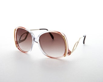 Boho Butterfly Vintage Hippie Ladies Sunglass with Gold Metal Wing Temples - Kate